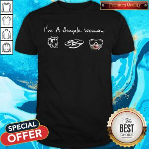 Good I'm A Simple Woman Loves Beer Flip Flop Swimming Glasses Shirt