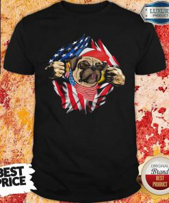 Hot Pug Dog With American Flag 4th Of July Independence Day Shirt