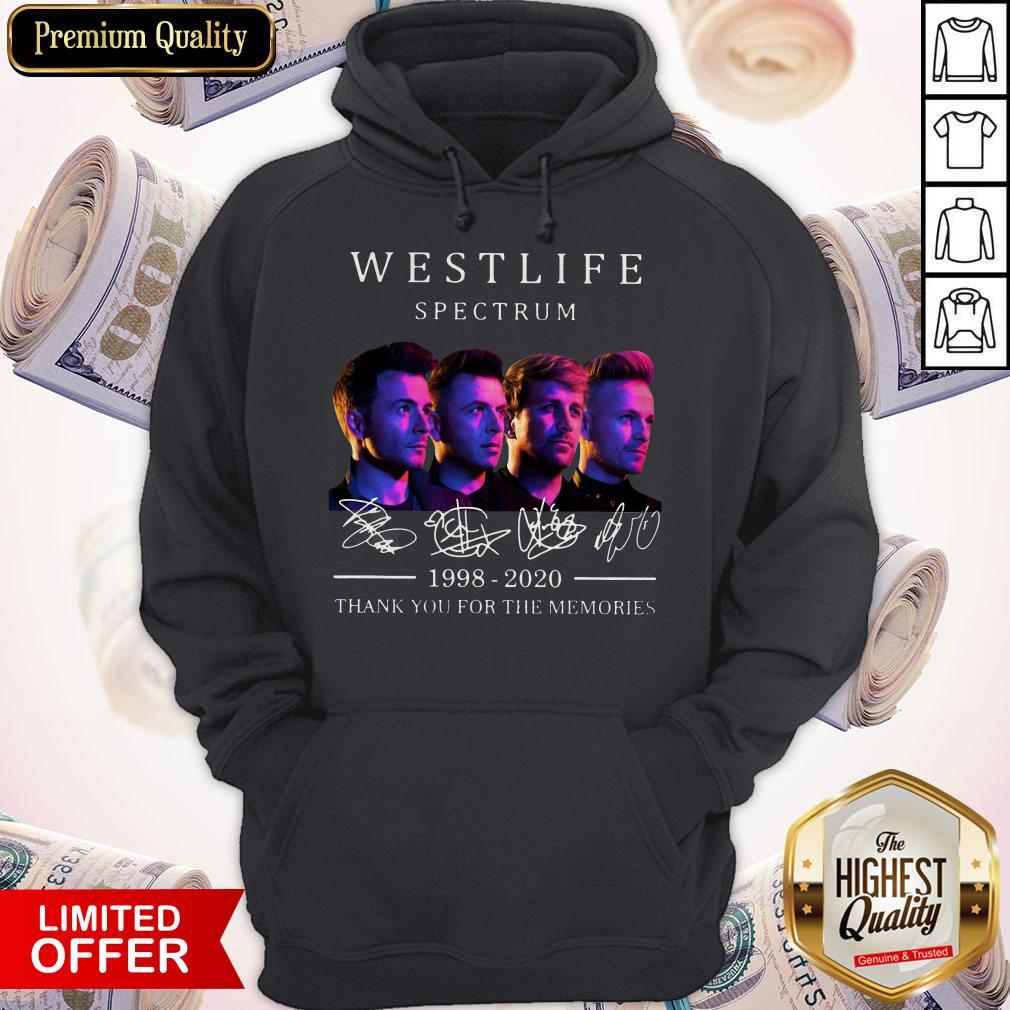Hot Westlife Spectrum 1998 2020 Thank You For The Memories Signatures Hoodie