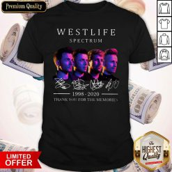 Hot Westlife Spectrum 1998 2020 Thank You For The Memories Signatures Shirt