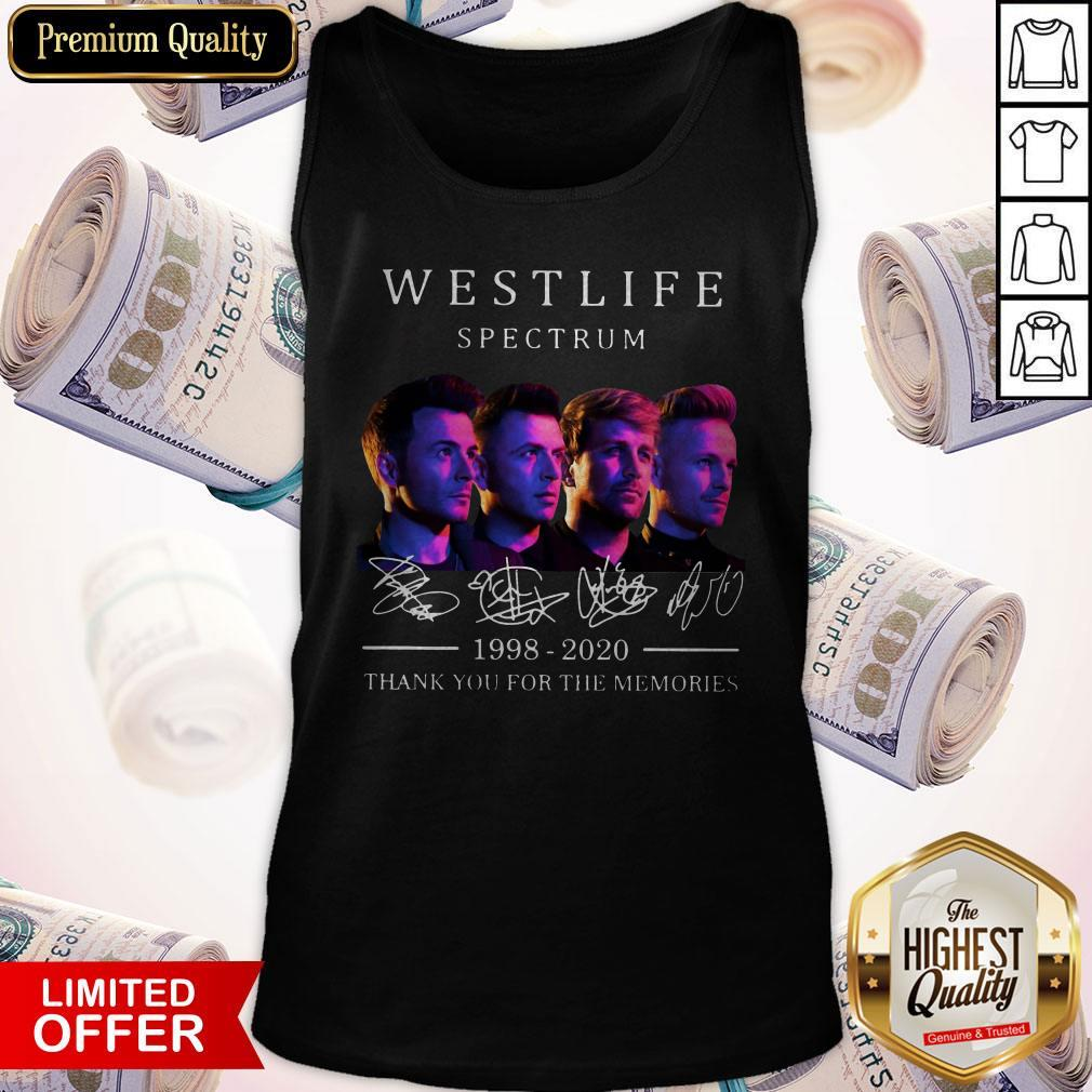 Hot Westlife Spectrum 1998 2020 Thank You For The Memories Signatures Tank Top