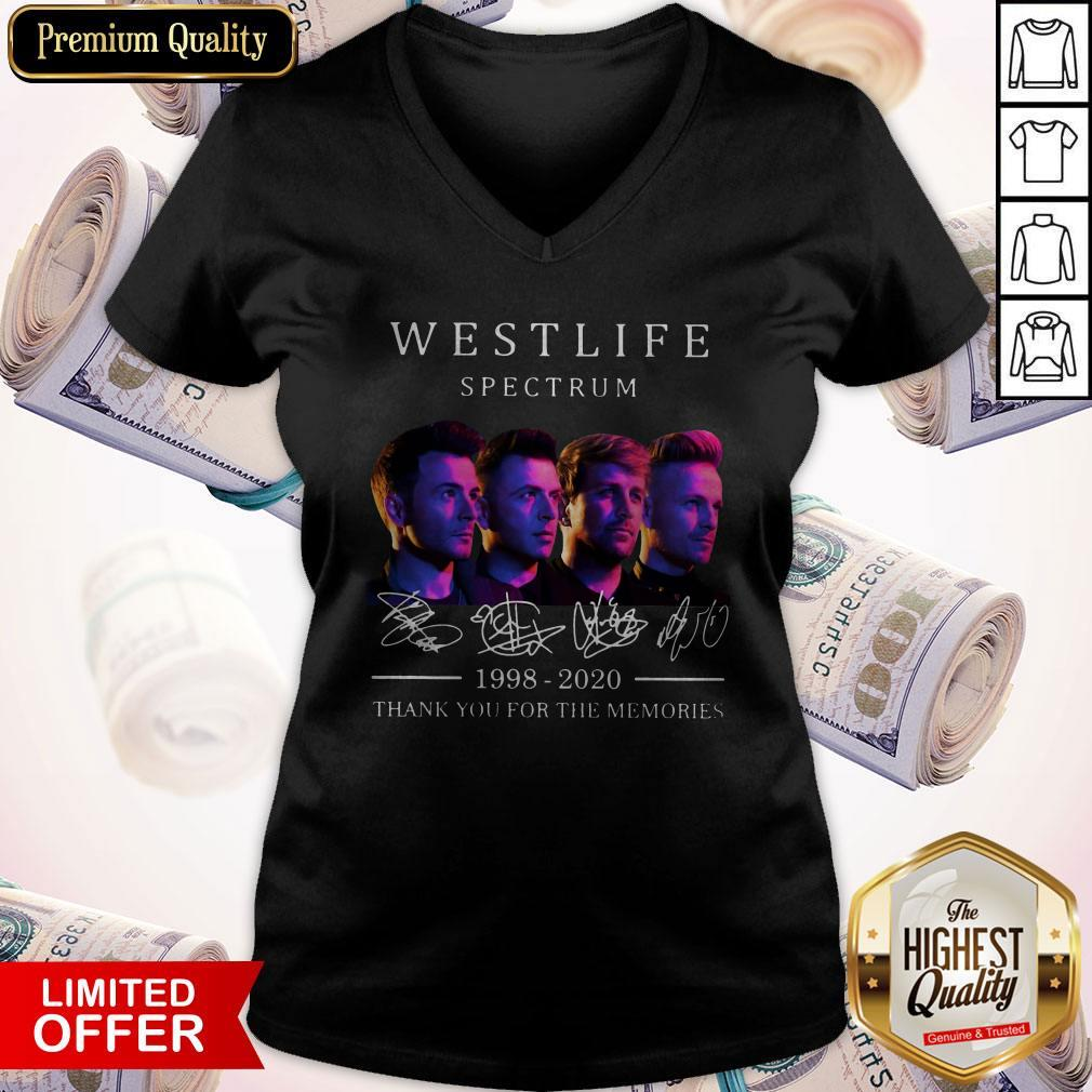 Hot Westlife Spectrum 1998 2020 Thank You For The Memories Signatures V-neck