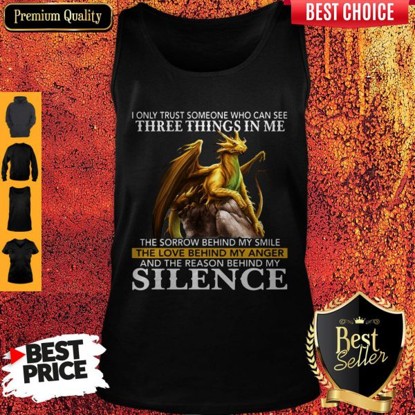 I Only Trust Someone Who Can See Three Things In Me The Sorrow Behind My Smile Vintage Tank Top