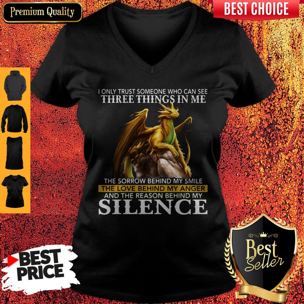 I Only Trust Someone Who Can See Three Things In Me The Sorrow Behind My Smile Vintage I Only Trust Someone Who Can See Three Things In Me The Sorrow Behind My Smile Vintage V-neck