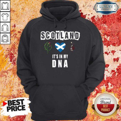 Nice Scotland Flag Heart Highland Dress It's In My DNA Hoodie