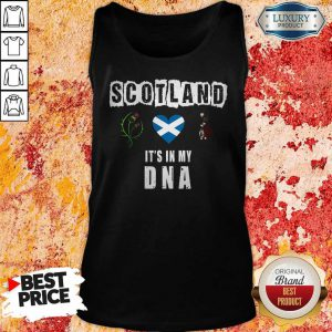 Nice Scotland Flag Heart Highland Dress It's In My DNA Tank Top