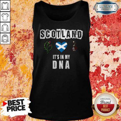 Nice Scotland Flag Heart Highland Dress It's In My DNA Tank Top