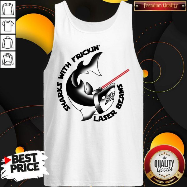 Nice Sharks With Frickin' Laser Beams Tank Top