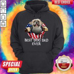 Official Blood Inside Me Shih Tzu Dog American Flag Best Dog Dad Ever Hoodie