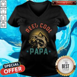 Official Fishing Reel Cool Papa V-neck