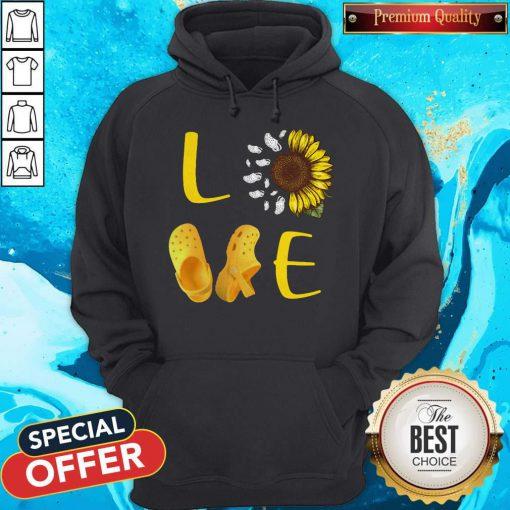 Premium Pretty Sunflower Love Croc Hoodie