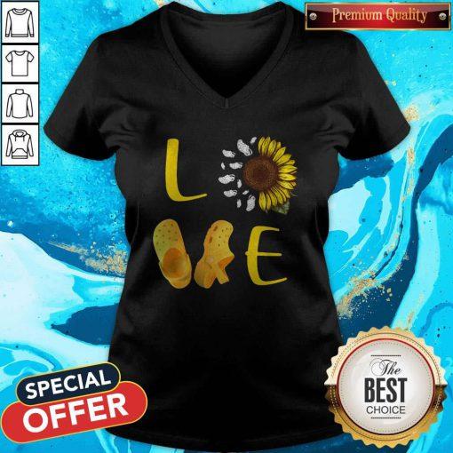 Premium Pretty Sunflower Love Croc V-neck