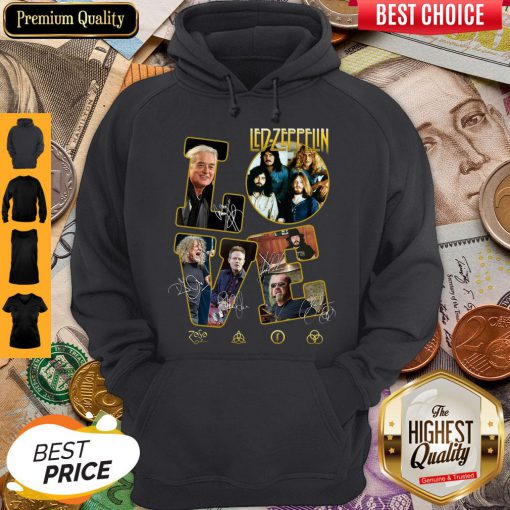Pretty Love Led Zeppelin Signatures Hoodie