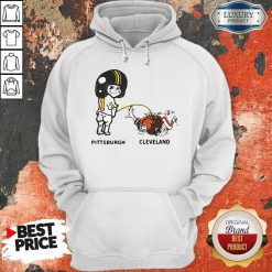 Pretty Piss On Pittsburgh Steelers Pee Cleveland Browns Hoodie