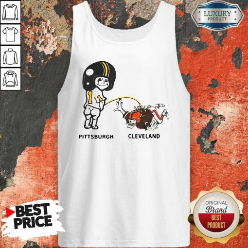 Pretty Piss On Pittsburgh Steelers Pee Cleveland Browns Tank Top
