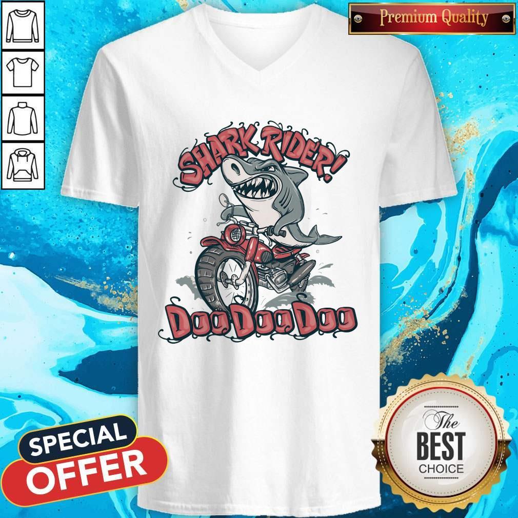 Pretty Shark Rider Doo Doo Doo V-neck
