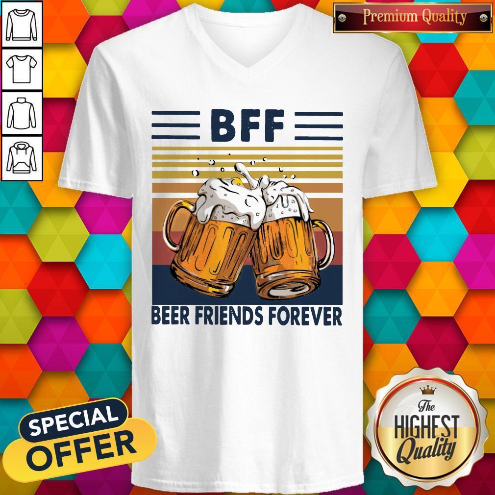 Pro BFF Beer Friends Forever Vintage V-neck