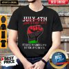 Pro July 4th Juneteenth 1865 Because My Ancestors Weren't Free In 1776 Shirt
