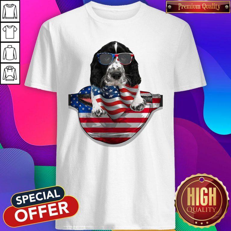 Pro Springer Spaniel Waist Pack Flag American Flag Independence Day Shirt