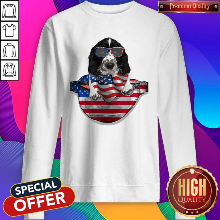 Pro Springer Spaniel Waist Pack Flag American Flag Independence Day Sweatshirt