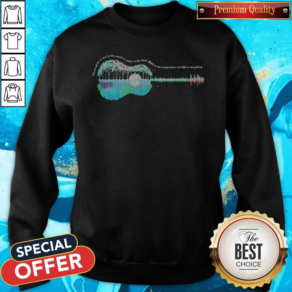 Vip Guitar Life Music Juices A Soul To The Universe Sings To The Mind Plight To The Imagination And Life To Everything Sweatshirt