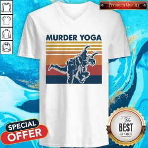 Beautiful I Want Jiu Jitsu Murder Yoga Vintage V-neck