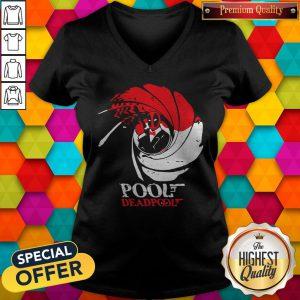 Beautiful Turtle Funny Pool Gun Deadpool V-neck