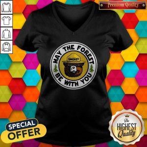 Cool Smokey Bear May The Forest Be With You V-neck
