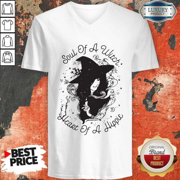 Cute Soul Of A Witch Broken Heart Of A Hippie V-neck