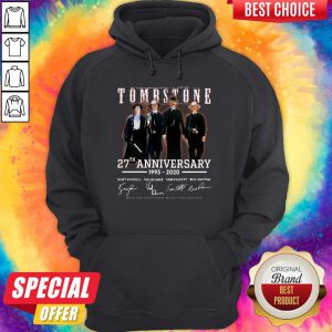 Cute Tombstone 27th Anniversary 1993 2020 Signature Thank You For The Memories Hoodie