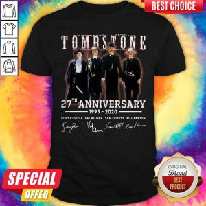 Cute Tombstone 27th Anniversary 1993 2020 Signature Thank You For The Memories Shirt