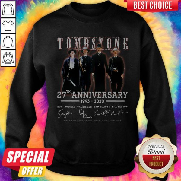 Cute Tombstone 27th Anniversary 1993 2020 Signature Thank You For The Memories Sweatshirt