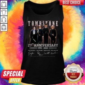 Cute Tombstone 27th Anniversary 1993 2020 Signature Thank You For The Memories Tank Top