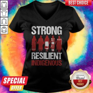Funny Strong Resilient Indigenous V-neck
