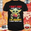 Lovely Baby Yoda Hug Frito Lay I Don'T Care What Day It Is I'M Grumpy I Want Frito Lay Shirt