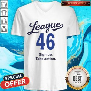 Lovely League 46 Sign Up Take Action V-neck