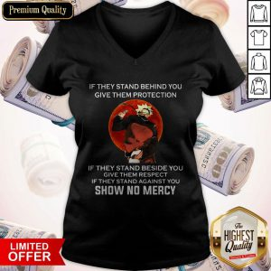 Maybe If They Stand Behind You Give Them Protection Vintage V-neck