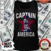 Nice USA Men's English Soccer Captain America Tank Top