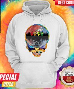 Pretty Grateful Dead Bear Skull Tee Halloween Hoodie