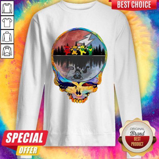 Pretty Grateful Dead Bear Skull Tee Halloween Sweatshirt