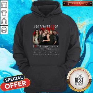 Pro Revenge 10th Anniversary 2011 2021 Thank You For The Memories Signatures Hoodie