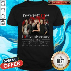 Pro Revenge 10th Anniversary 2011 2021 Thank You For The Memories Signatures Shirt