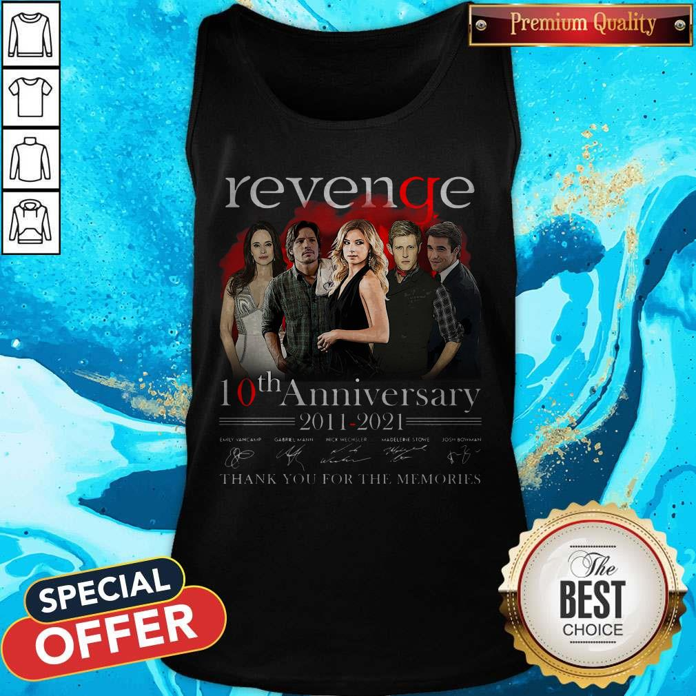 Pro Revenge 10th Anniversary 2011 2021 Thank You For The Memories Signatures Tank Top