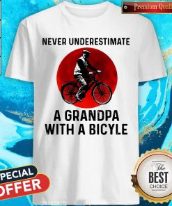 Sweet Never Underestimate A Grandpa With A Bicycle Sunset Shirt