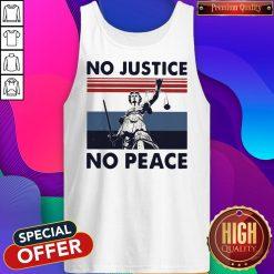 Beautiful No Justice No Peace Vintage Retro Tank Top