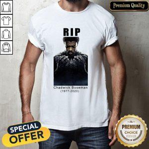 Chadwick Boseman Rip 1977 2020 T-Shirt