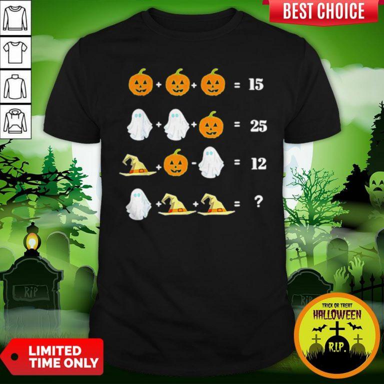 Cool Halloween Math Equations For Math Teachers Shirt