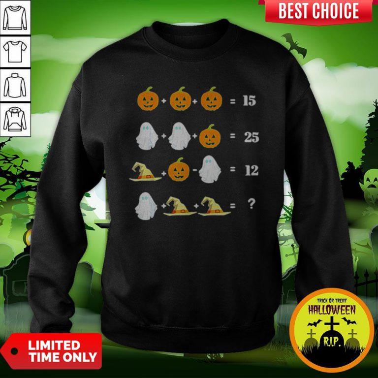 Cool Halloween Math Equations For Math Teachers Sweatshirt