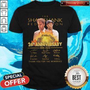 Cute The Shawshank 26th Anniversary 1994 2020 Signatures Shirt
