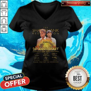 Cute The Shawshank 26th Anniversary 1994 2020 Signatures V-neck
